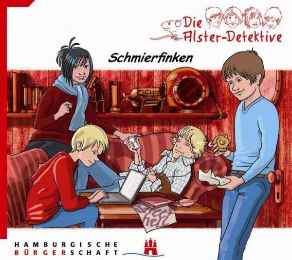 """kostenlose Kinder Hör-CD's """"Die Alster Detektive Folge 1-5"""