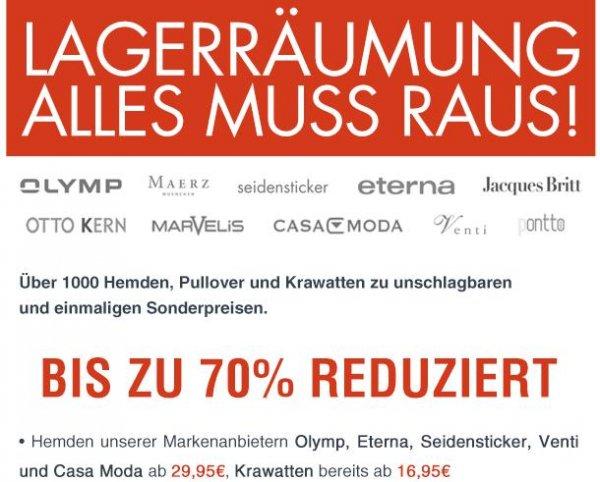 ~40% Rabatt auf Hemden & Strick von Eterna, Olymp, Seidensticker usw.