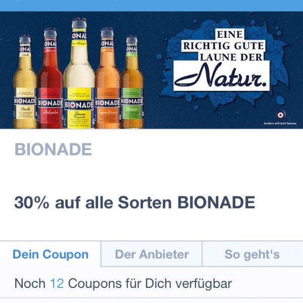 [Coupies] 30% auf Bionade 12x einlösbar