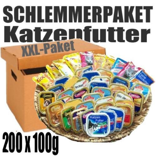 Katzenfutter Schlemmerpaket 200 x 100g oder Hundefutter 120 x 300g @Lohnversteigerung.de