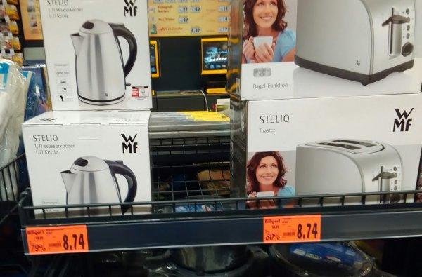 WMF Stielo Edelstahl Wasserkocher oder Toaster (offline/Kaufland Imgenbroich)