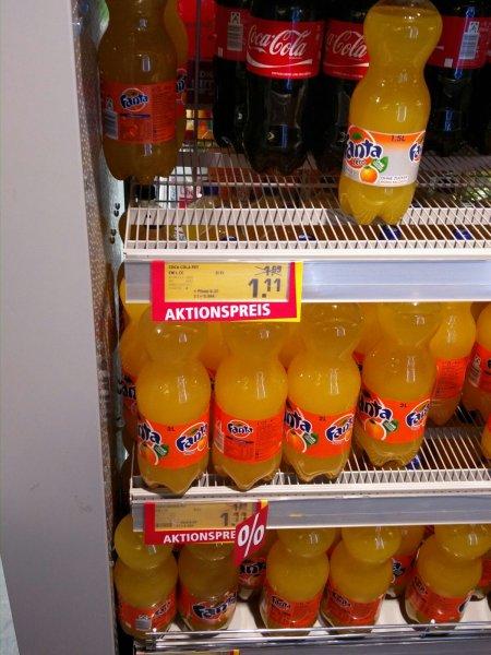 [Lokal München Innenstadt] 2L Flasche Coca Cola oder Fanta für 1,11€+0,25€ Pfand (Rewe City im Tal)