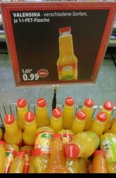 Valensina Fruchtsaft (1 l) für 0,99 € (LOKAL Meckenheim)