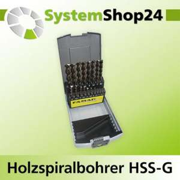 FAMAG Holzspiralbohrer HSS-G 19-teilig