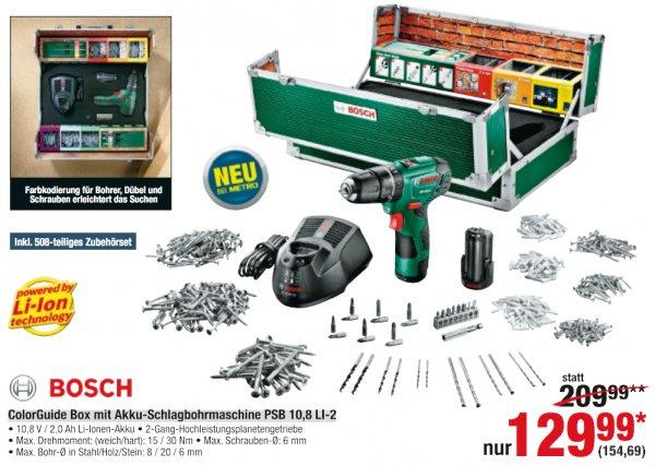 Akku-Schlagbohrschrauber Bosch PSB 10,8 LI-2 mit ColorGuide Box [Metro]