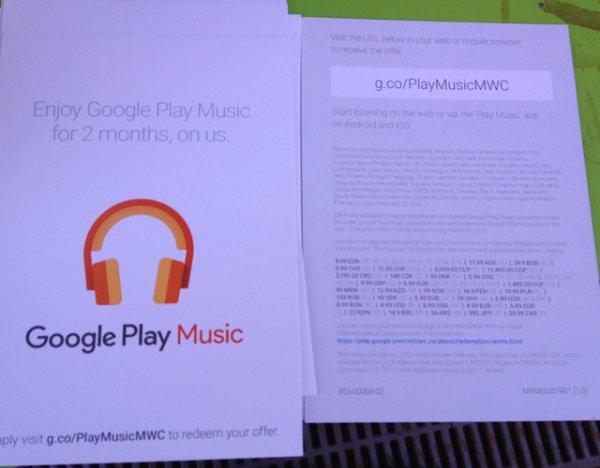 Google Music 2 Monate gratis (MWC)