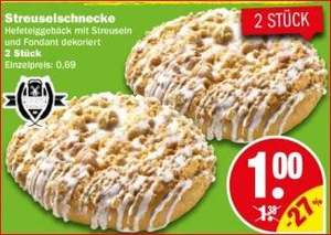 [NP Discount ab Do 25.2] 2 Streuselschnecken 1€