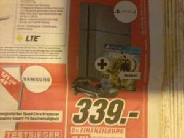 Playstation 4 + FAR CRY Primal Pack    339€     mediaMarkt