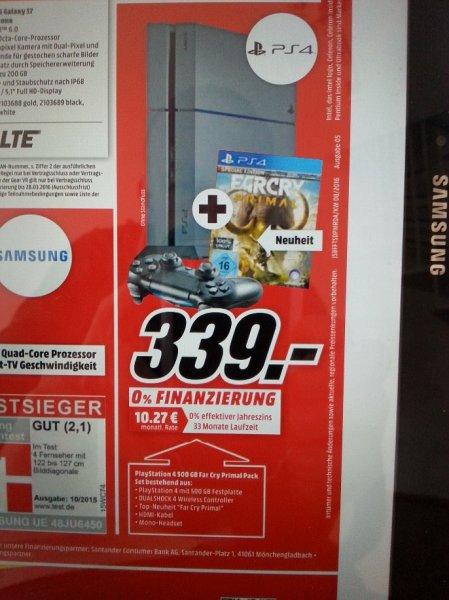 Mediamarkt bundesweit - PS4 500GB + Far Cry Primal 339€