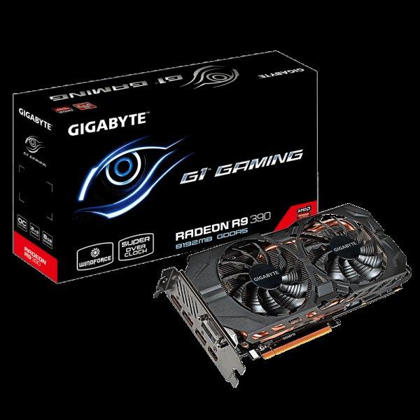 Gigabyte R9 390 Gaming G1, 8GB DDR5, DVI, HDMI, 3x Displayport für 285,99€