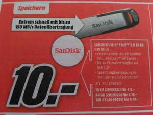[Mediamarkt] SANDISK Ultra Flair 3.0 128GB USB Stick für 29€