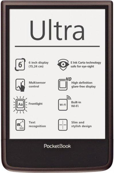 [HGO] Pocketbook Ultra beleuchteter Ebook-Reader (E-Ink-Carta-Display, Linux, Freescale i.MX 6 1GHz, 512MB RAM, 4GB intern, microSD, Blättertasten) für 89,99€ [B-Ware]