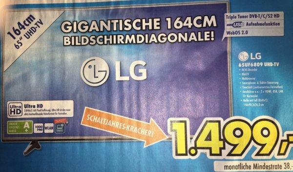 "[Euronics] LG 65UF6809 4K 65""'LED TV für 1499,- €"