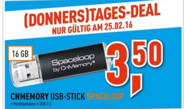 [Berlet] CnMemory Spaceloop 16GB USB-Stick Donnerstagesdeal 3,50€