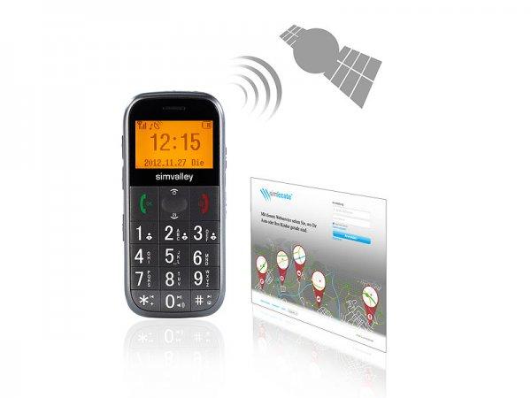 AUSVERKAUFT     Pearl.de Simvalley Mobile GPS Handy simlocate S1 mit Garantruf