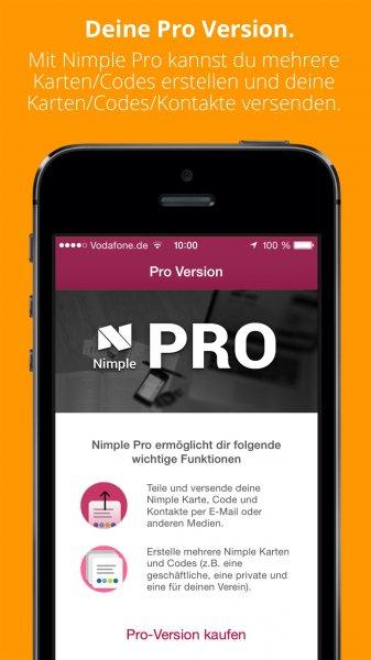 Nimple Pro-Version kostenlos statt 1,99 €
