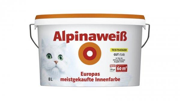 Alpinaweiß 8L (mit Katze) bei Hagebaumarkt