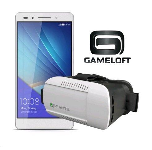 [Vmall] Honor 7 LTE + Dual-SIM (5,2'' FHD IPS, HiSilicon Kirin 935 Octacore, 3GB RAM, 16GB intern, 20MP + 8MP Kamera, Vollmetallgehäuse, 3100 mAh, Android 5.0 -> Android 6) + VR-Brille für 273,05€