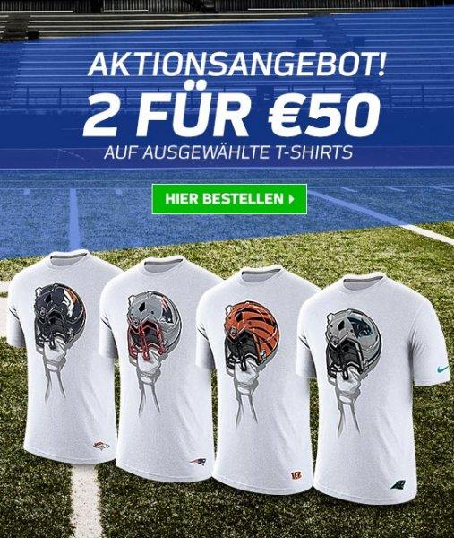 NFL Shop Europe - 2 T-Shirts für 50€ Aktion