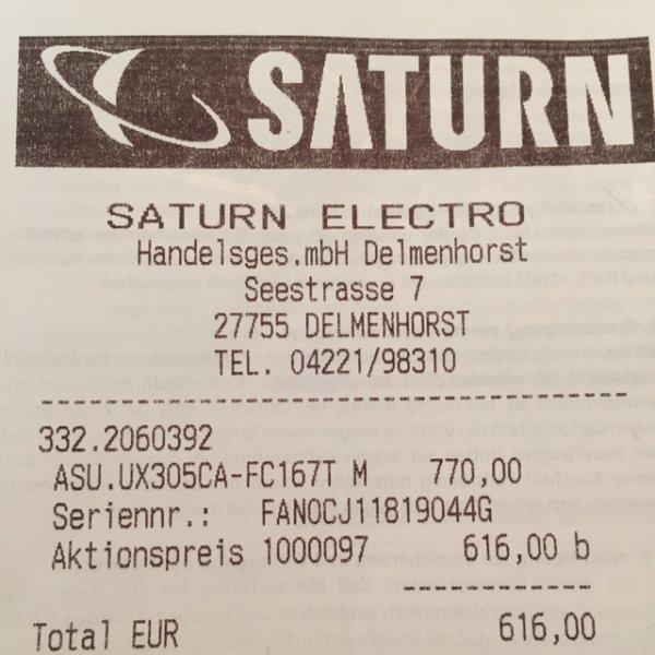 [Lokal Saturn Delmenhorst] ASUS UX305CA-FC167T, Notebook mit 13.3 Zoll