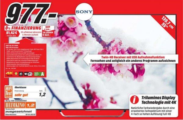 """[Lokal MediaMarkt Schweinfurt] Sony KD-55X8505C 55"""", 4k, 3D für 977,00€ neuer Bestpreis DE"""