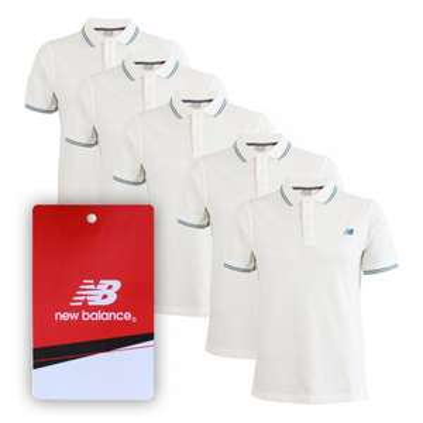 5 Stück New Balance Poloshirt 100 % Baumwolle 22,49 € inkl. Versand!@ebay