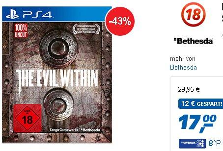 The Evil Within Steelbook PS4 für 17,- Euro im Real Online Shop