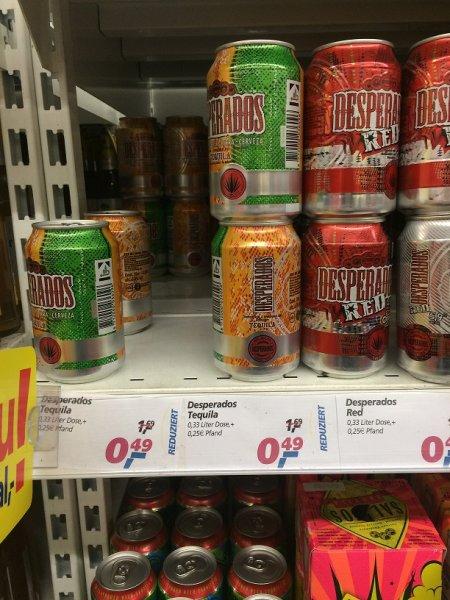 Bielefeld: Desperados Tequila Dose 0,33l (verschiedene Sorten)