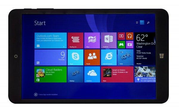"i.onik TW Serie I 8"" schwarz 75657 Tablet-PC 20.32 cm (8,0 Zoll) Tablet PCs (Intel intel_core_2_quad QuadCore 1.8GHz, 1GB RAM, 16GB HDD, Intel HD Graphic (Gen 7), , Windows 8.1 Touchscreen) Schwarz"