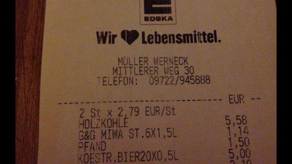 ( Lokal EDEKA Werneck ) Köstritzer Schwarzbier 1 Kasten