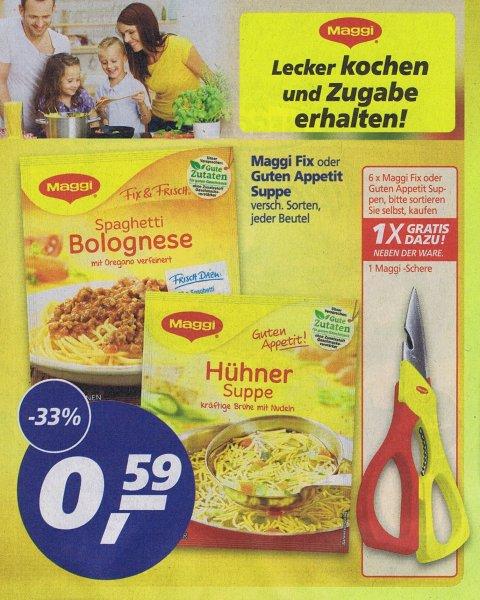 [Real] 6 x Maggi Fix oder Guten Appetit Suppen kaufen und Gratis dazu 1 Maggi Haushalts-Schere erhalten
