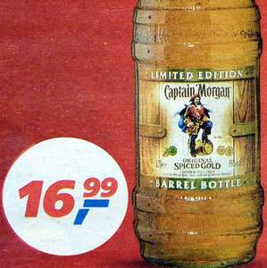 Captain Morgan Spiced Gold Barrel Bottle 1,5 Liter zum BESTPREIS 16,99€  [Real]