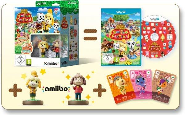 [Amazon Prime] WiiU Animal Crossing: amiibo Festival + 2 amiibo-Figuren + 3 amiibo-Karten für 24,61€