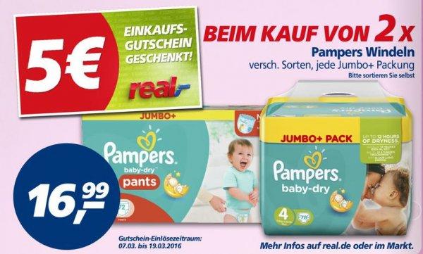 [real] Pampers Jumbo+ für eff. 10,99