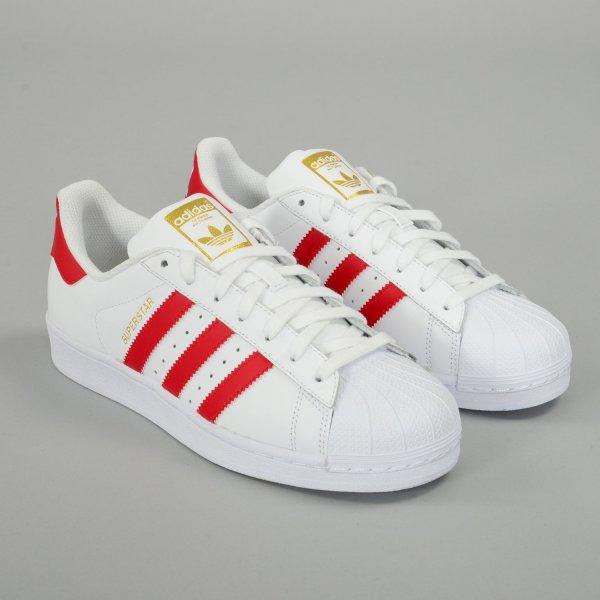 [Zalando] Adidas Superstar Foundation WeissBlau/WeissRot ab 29,25€