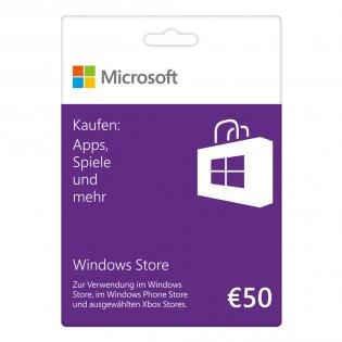 ABGELAUFEN  [Saturn Ebay] EINZELPOSTEN  50€ Microsoft Windows Store Guthabenkarte für 40 Euro