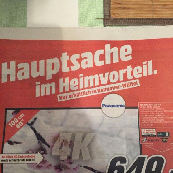 Lokal MM Hannover Panasonic TX40CXW684 649€