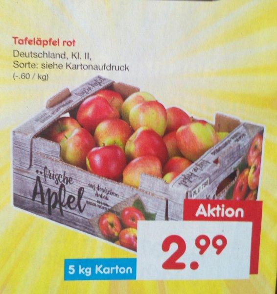 [Netto ohne Hund] Tafeläpfel rot 5Kg Karton für 2,99€ (am 05.03.)