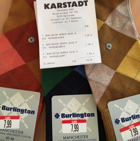 Burlington Socken (verschiedene) Lokal Karlsruhe