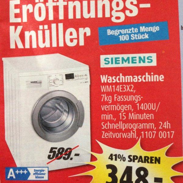 [Lokal Roller Herzogenrath] Siemens WM14E3X2, Waschmaschine 7kg, 1400 Umdrehungen / Wellenspiegel,150cmx20cm, 2,99