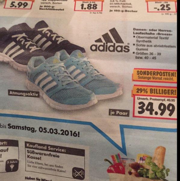 [KAUFLAND] Adidas Breeze Laufschuhe in 2 Farben