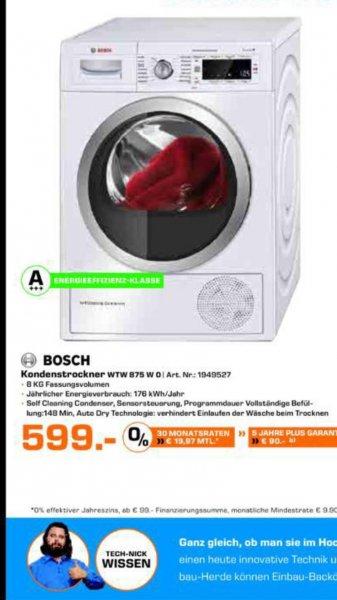 [SATURN Dortmund-Eving]BOSCH WTW875W0 Kondensationstrockner mit Wärmepumpentechnologie (8 kg, A+++)