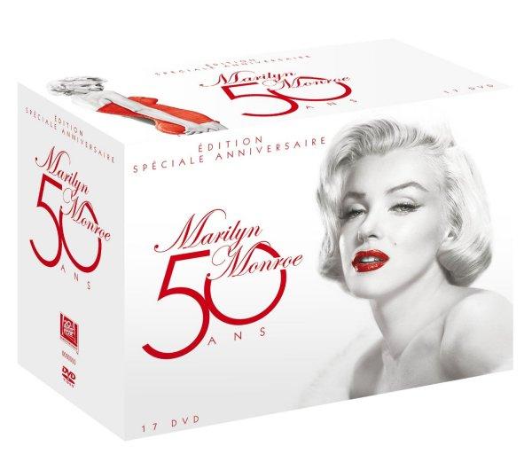 """[Amazon.fr] Marilyn Monroe Special Edition """"50 Jahre Geburtstagsedition"""" (17 Filme + Bonusmaterial, 50 DVDs) für 40,52€ [englisch + französisch]"""