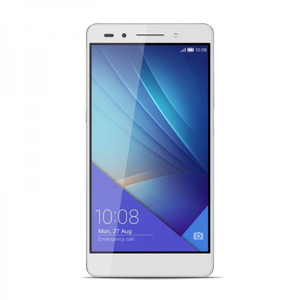 Honor 7 LTE + Dual-SIM (5,2'' FHD IPS, HiSilicon Kirin 935 Octacore, 3GB RAM, 16GB intern, 20MP + 8MP Kamera, Vollmetallgehäuse, 3100 mAh, Android 5.0 -> Android 6) für 279€
