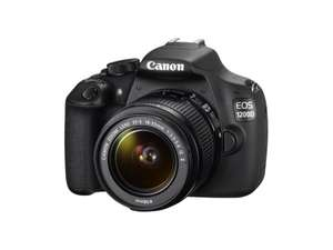 Canon EOS 1200D Kit 18-55mm IS II grau 18 Megapixel (APS-C Sensor) für 299,29 EUR