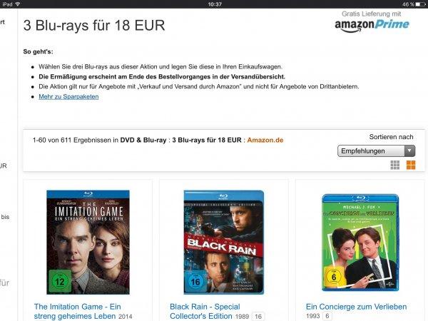 [amazon.de] 3 Blu Rays für 18 Euro, zB. Imitation Game