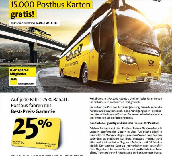 15.000 Postbus Karten - Gratis - exklusiv für ADAC Mitglieder