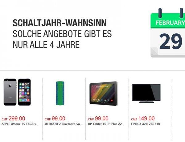 [Microspot.ch - Schweiz] Schaltjahr-Wahnsinn - u.a. UE Boom 2 green für ca. 86 Euro