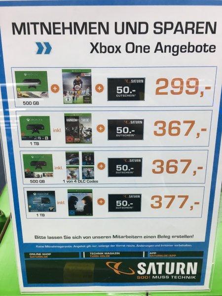 [Lokal HH] Xbox One + Forza Horizon 2 + FIFA 16 + 50€ GS Saturn Altstadt 299€ !