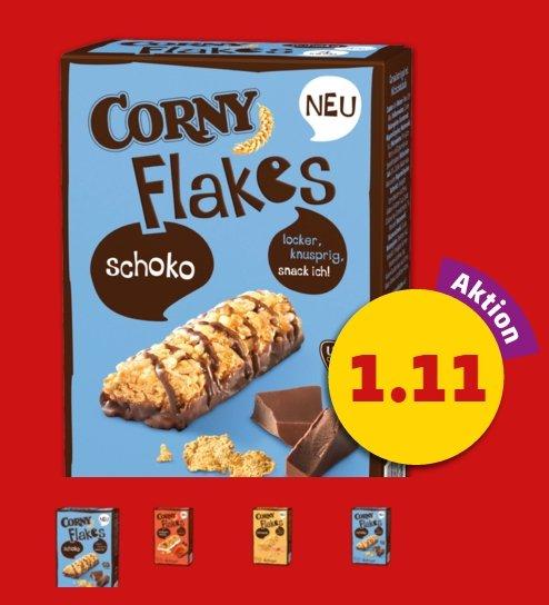 Corny Flakes für 1.11€ bei Penny im Angebot diese Woche -0.50€ bei COUPIES = Effektiv 0.61€